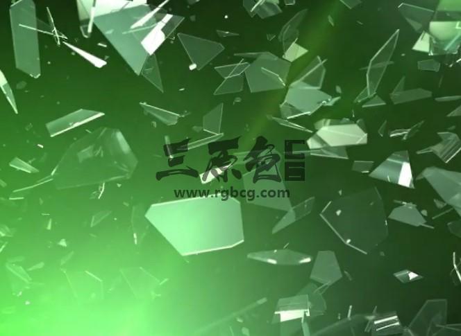 AE模板:玻璃裂缝碎片静止LOGO显示片头 Logo Reveal Glass Crack Ae 模板-第1张