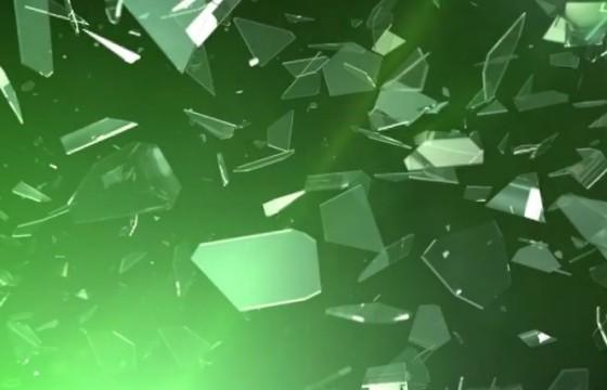 AE模板:玻璃裂缝碎片静止LOGO显示片头 Logo Reveal Glass Crack
