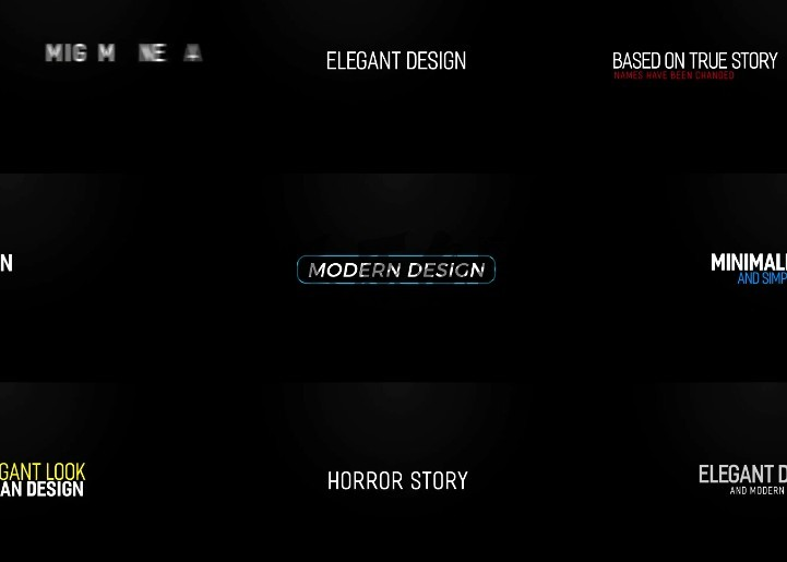 Pr模板 MOGRT图形预设 文字标题排版动画 Modern Intro Titles Pr 模板-第1张
