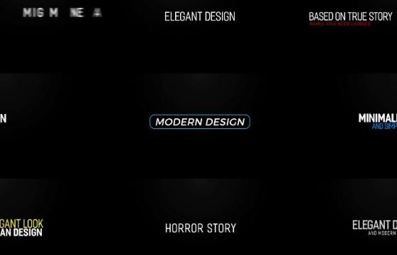 Pr模板 MOGRT图形预设 文字标题排版动画 Modern Intro Titles