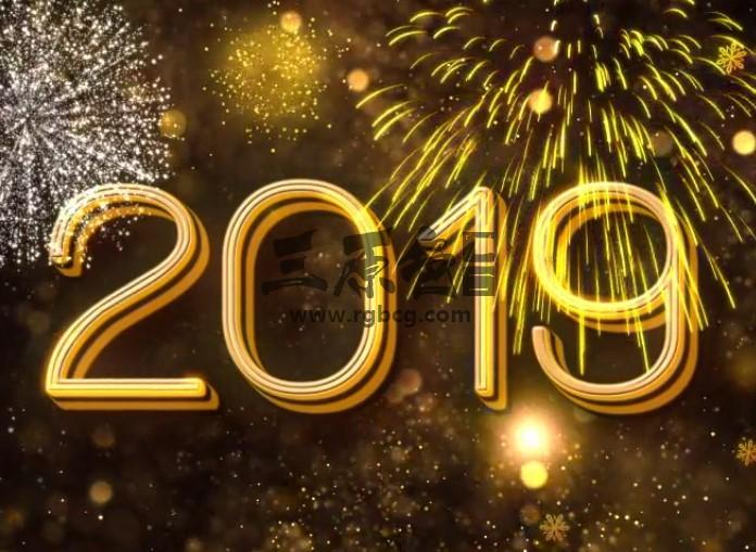 AE模板 2019年新年春节倒计时片头 New Year Countdown 2019 Ae 模板-第1张
