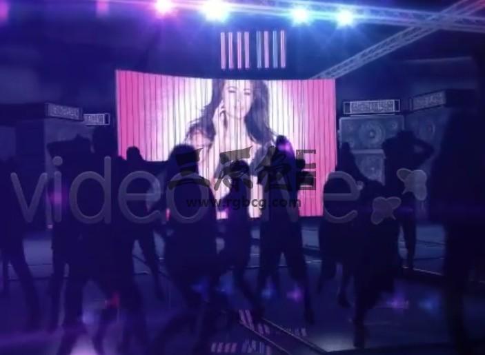 AE模板 虚拟夜总会舞厅大屏合成 Night Club Promo Ae 模板-第1张
