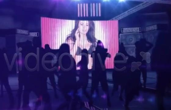 AE模板 虚拟夜总会舞厅大屏合成 Night Club Promo