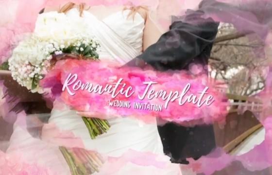 AE模板 – 婚礼婚纱照浪漫图文幻灯片展示 Romantic Template