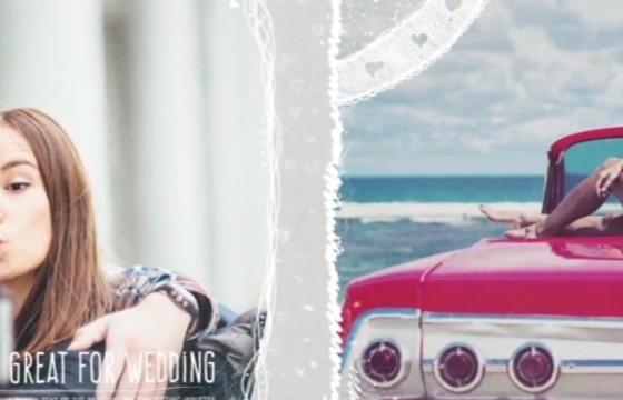 AE模板 浪漫的婚礼婚纱照动画幻灯片展示 Romantic Wedding