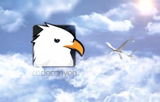 Pr模板 天空 飞鸟LOGO动画片头 Sky Logo Reveals