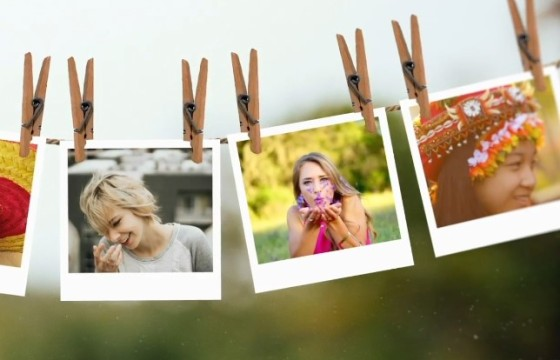 AE模板 照片相册蒙太奇幻灯片展示 Slideshow Montage