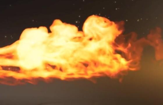 AE模板 火焰遮罩显示LOGO标志片头 Speed Fire Logo Reveal