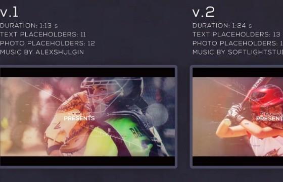 AE模板 – 数字科技三维视差幻灯片展示 Sport Parallax Slideshow