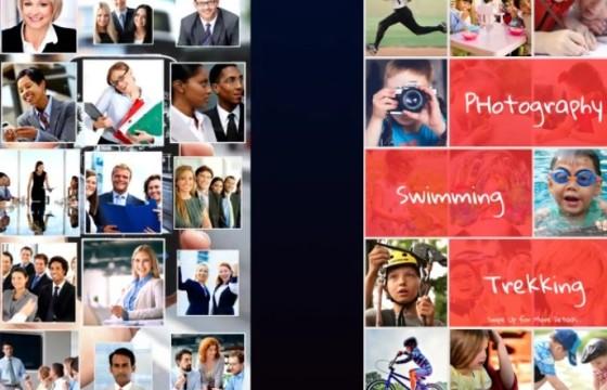 AE模板 竖屏版多图像网格图片幻灯片展示 with Multi Image Grid