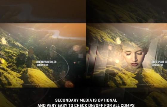 AE模板 – 三维视差图文幻灯片 4K Parallax Slideshow