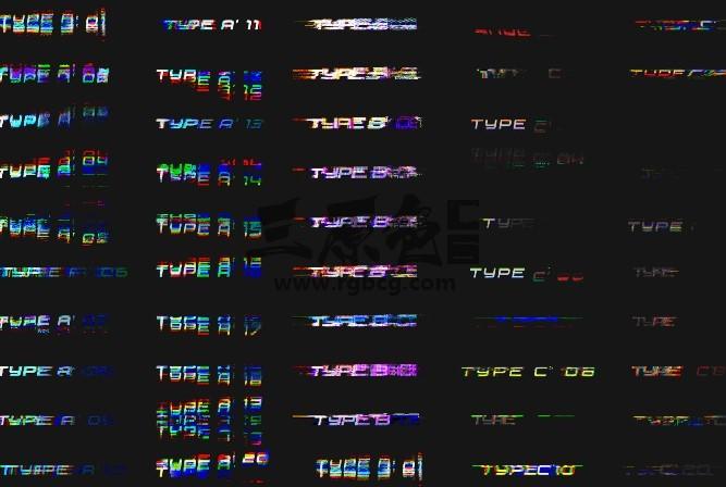 AE模板 - 70个RGB干扰分离特效文字动画模板 Text Title Animation Ae 模板-第1张