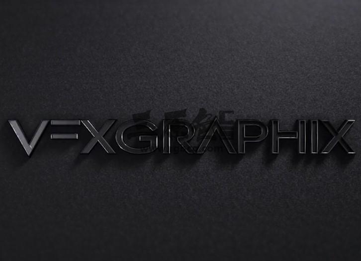 AE模板 三维质感黑色文字LOGO动画片头 Black Logo Reveal Ae 模板-第1张