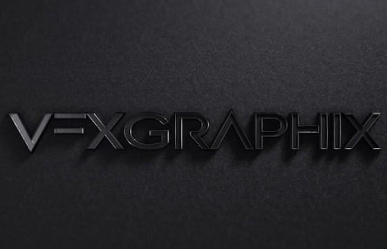 AE模板 三维质感黑色文字LOGO动画片头 Black Logo Reveal