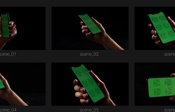 AE模板 – 手机 平板电脑小程序 APP界面推广展示动画 Black Mockup