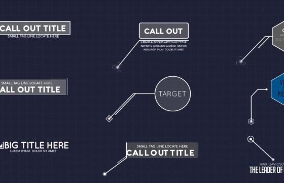AE模板 – 扁平化文字标题呼出指示标注线条动画 Callout Pack
