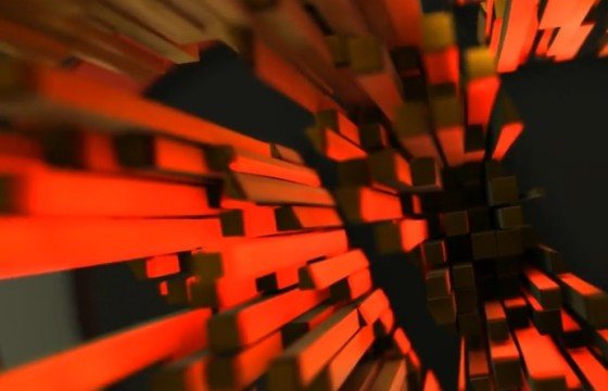 AE模板 三维文字LOGO像素方块动画片头 Clean Pieces Vol 2