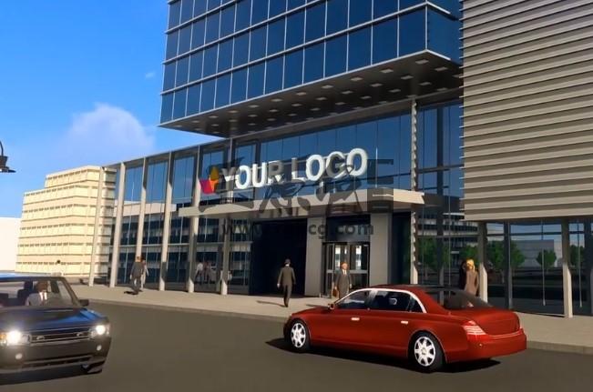 AE模板 - 三维虚拟公司大楼建筑LOGO标志 Company Building Logo Ae 模板-第1张