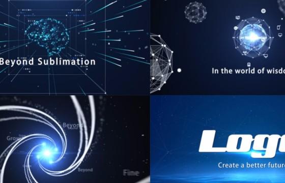 AE模板 – 创意科技感点阵粒子LOGO片头 Creative Tech Plexus Opener