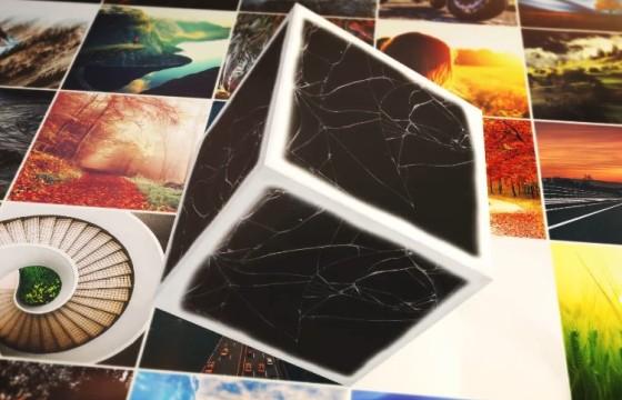 AE模板 创意正方体滚动照片图片显示动画片头 Cubical Photo