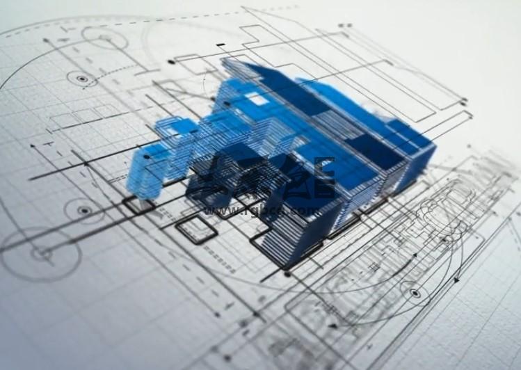 AE模板 建筑草图LOGO动画片头展示 Architect Logo Reveal Ae 模板-第1张