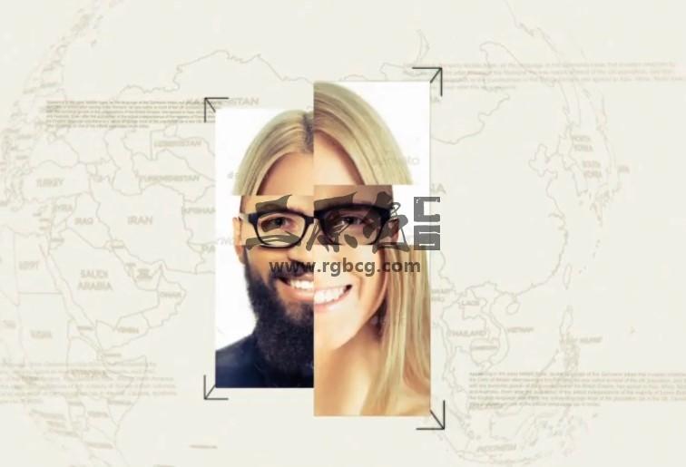 AE模板 人物面部变化展示幻灯片动画 VideoHive Face Reveal Ae 模板-第1张