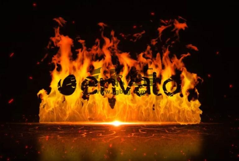 AE模板 - 火焰燃烧LOGO标志显示动画片头 Fire Wall Ae 模板-第1张