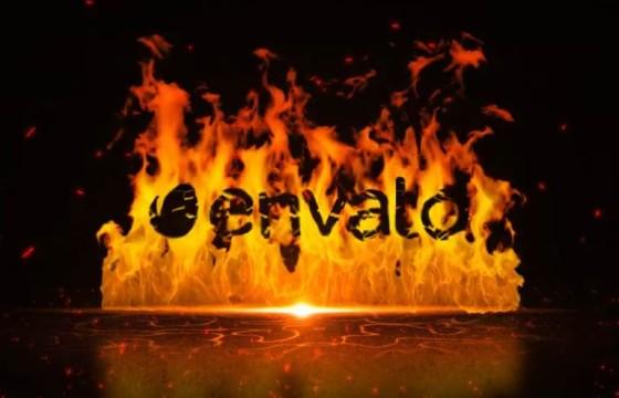 AE模板 – 火焰燃烧LOGO标志显示动画片头 Fire Wall