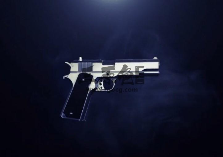 AE模板 E3D三维手枪模型动画展示LOGO片头Gun Reveal Ae 模板-第1张