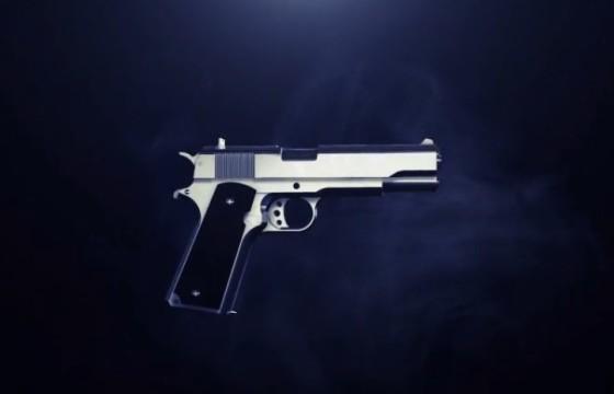 AE模板 E3D三维手枪模型动画展示LOGO片头Gun Reveal