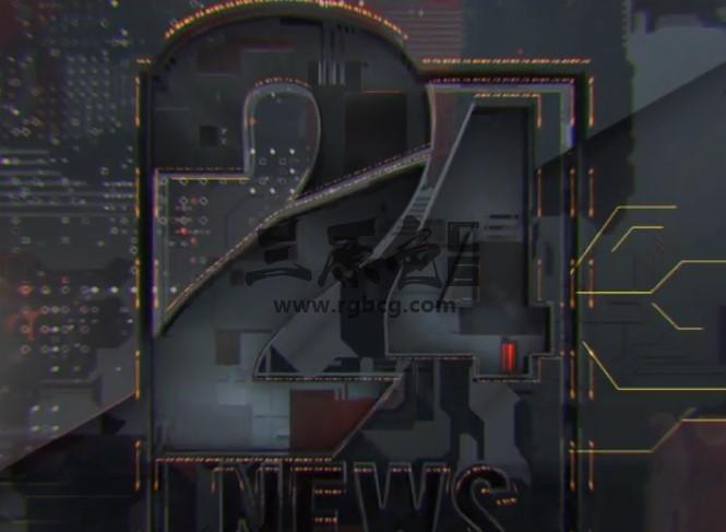 AE模板 新闻媒体24小时新闻栏目片头包装 HITECH LOGO OPENER Ae 模板-第1张