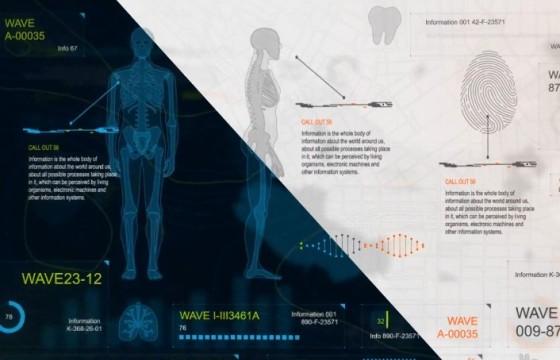 AE模板 – 人体医学高科技HUD信息图表动画 Infographics HUD