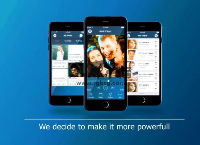 AE模板 - 手机APP程序界面演示 功能介绍宣传 Iphone UI Presentation Ae 模板-第1张
