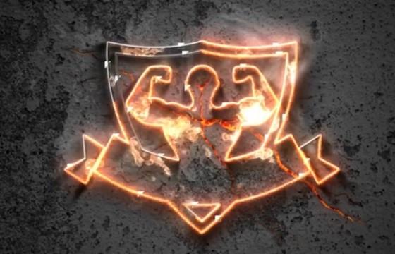 AE模板 金属质感火焰描边燃烧LOGO标志片头 Metal Fire Logo