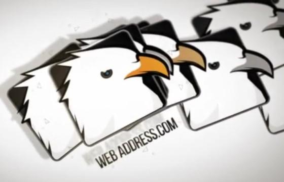 AE模板 LOGO标志自然散落动画 Minimal Business Falling Logos