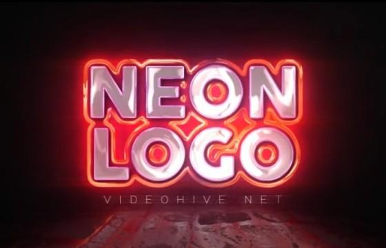 AE模板 – 霓虹灯闪烁文字LOGO展示片头 Neon Logo Reveal