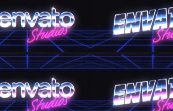 AE模板 游戏复古风格LOGO片头 Retro Logo Reveal Pack