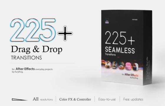 AE模板 220多个视频无缝转场过渡切换效果 Seamless Transitions
