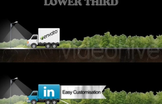 AE模板 – 货车车身LOGO字幕条动画广告 Social Truck Lower Third