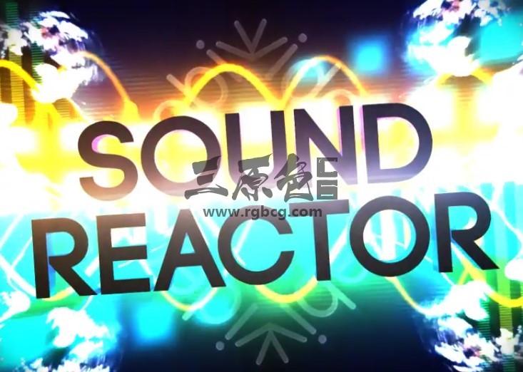 AE模板 动感时尚音频频谱动画字幕文字标题片头 Sound Reactor Titles Ae 模板-第1张