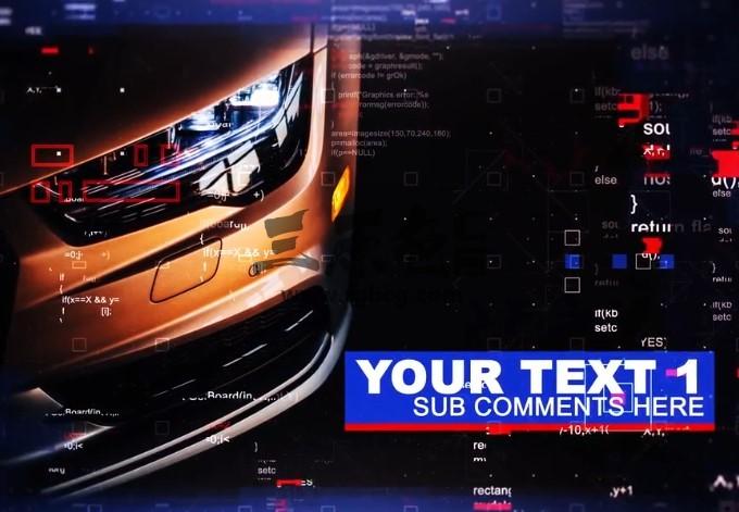 AE模板:图文HUD数字技术幻灯片展示 Technic Slides Ae 模板-第1张