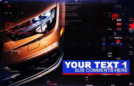 AE模板:图文HUD数字技术幻灯片展示 Technic Slides