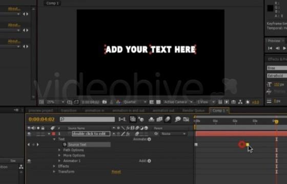 AE模板预设 文字出字打字机特效动画模板预设 FFX Text FX Pack