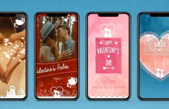 AE模板 浪漫婚礼情人节表白动画元素模板 VideoHive Valentine Kit