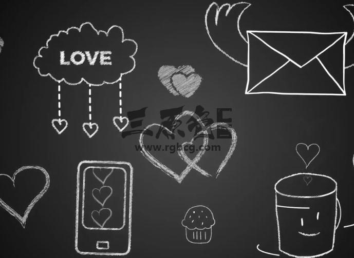 AE模板 婚庆婚礼浪漫情人节卡通动画元素 Valentines Day Kit Ae 模板-第1张