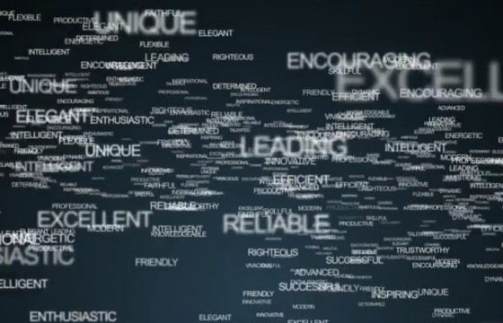 AE模板 关键词文字飞入汇聚LOGO动画片头 Words Logo Animation