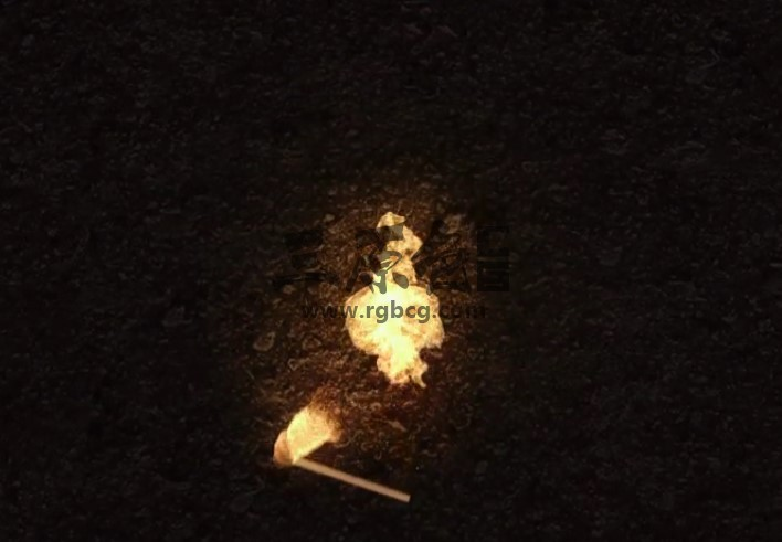 AE模板 火柴落下燃烧火焰LOGO显示片头 Fire Logo Reveal Ae 模板-第1张