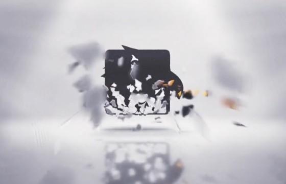 AE模板 炫酷三维碎片汇聚组合LOGO动画展示 Logo Reveal