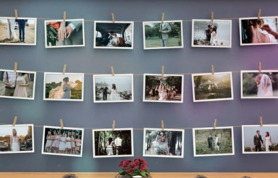 AE模板 创意浪漫婚礼婚纱照幻灯片相册展示 Wedding Slideshow