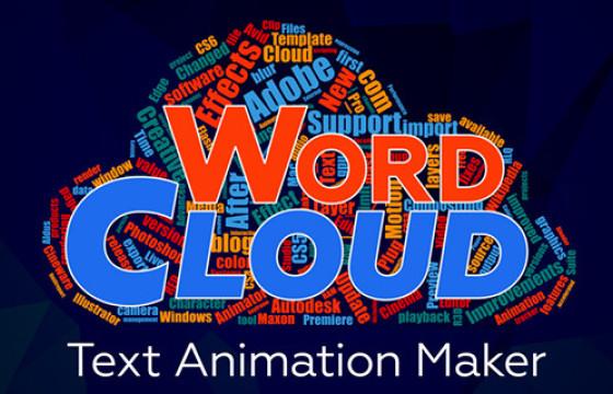 AE脚本扩展 文字形状组合动画制作插件 Aescripts Word Cloud v1.0.3+教程
